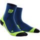 cep Short Socks - Chaussettes course à pied Homme - vert/bleu
